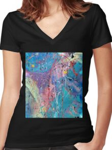 Aqua Dreams Women's Fitted V-Neck T-Shirt