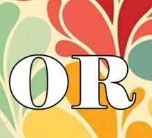 Floral Oregon Sticker
