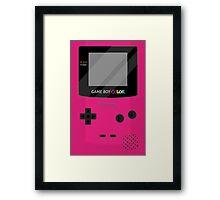 Gameboy Color - Berry Framed Print