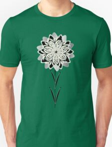 Art Deco Blooming Number 3 Unisex T-Shirt