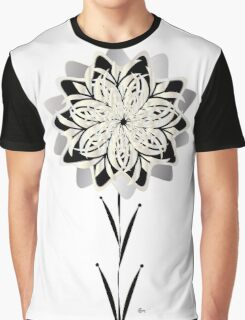 Art Deco Blooming Number 3 Graphic T-Shirt