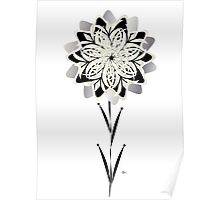 Art Deco Blooming Number 3 Poster