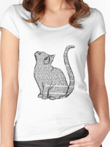books and cats and books and cats Women's Fitted Scoop T-Shirt