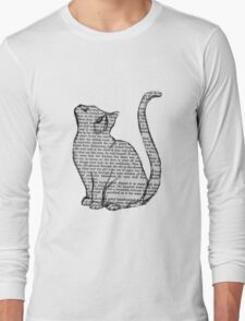 books and cats and books and cats Long Sleeve T-Shirt