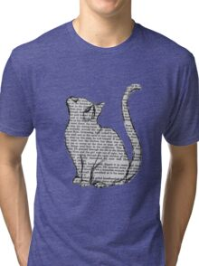 books and cats and books and cats Tri-blend T-Shirt