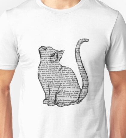 books and cats and books and cats Unisex T-Shirt