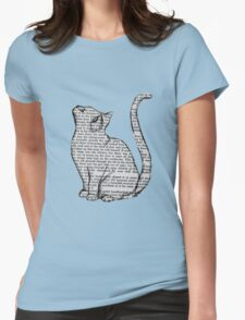 books and cats and books and cats Womens Fitted T-Shirt