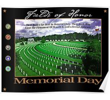 Fields of Honor - Memorial Day Poster