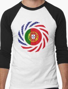 Portuguese American Multinational Patriot Flag Series Men's Baseball ¾ T-Shirt