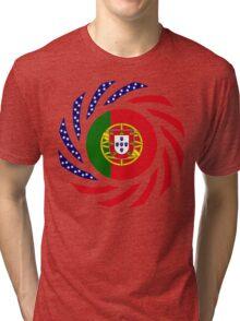 Portuguese American Multinational Patriot Flag Series Tri-blend T-Shirt