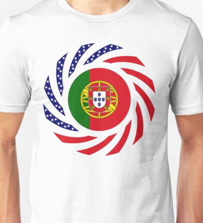 Portuguese American Multinational Patriot Flag Series Unisex T-Shirt