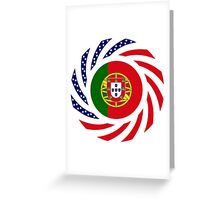 Portuguese American Multinational Patriot Flag Series Greeting Card