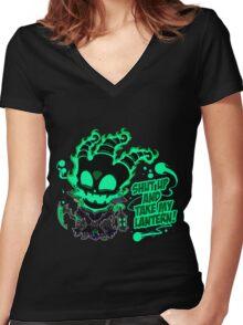 League of Legends - Thresh Women's Fitted V-Neck T-Shirt