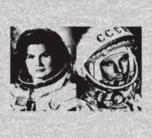 Cosmonauts: Tereshkova & Gagarin One Piece - Long Sleeve