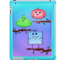 Three Odd Birds on Branches iPad Case/Skin