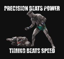Conor McGregor Precision Beats Power Timing Beats Speed by distressed