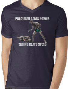 Conor McGregor Precision Beats Power Timing Beats Speed Mens V-Neck T-Shirt