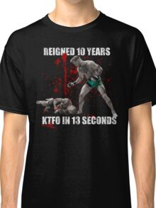 Conor McGregor 13 Second Knock Out of Jose Aldo (blood splatter) Classic T-Shirt
