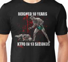 Conor McGregor 13 Second Knock Out of Jose Aldo (blood splatter) Unisex T-Shirt