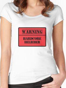 Hardcore Belieber Women's Fitted Scoop T-Shirt