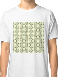 Floral Pattern on Cream Background Classic T-Shirt