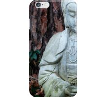 Zen Buddha Statue in Forest iPhone Case/Skin