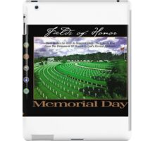 Fields of Honor - Memorial Day iPad Case/Skin