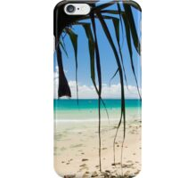 Under The Palm Trees : First Point, Noosa : Sky Blue, Ocean Green & Turquoise  iPhone Case/Skin