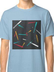 Grunge brush strokes pattern Classic T-Shirt