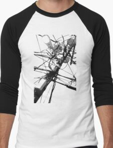 Lamp Post & Power Lines Men's Baseball ¾ T-Shirt