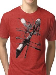Lamp Post & Power Lines Tri-blend T-Shirt