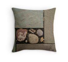 Natural Cut Paving Stones and Rocks Throw Pillow