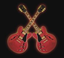 Red Gibson Es 335 by adlirman