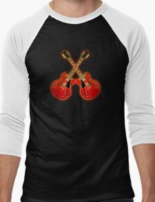 Red Gibson Es 335 Men's Baseball ¾ T-Shirt