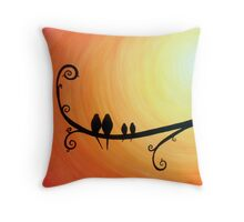Roots & Wings (orange) Throw Pillow