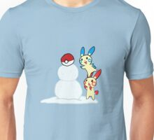 Plusle and Minun build a Snowman! Unisex T-Shirt