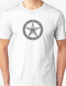 Western Country music Sheriff Sign Unisex T-Shirt