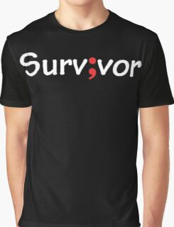 Semicolon; Survivor Graphic T-Shirt