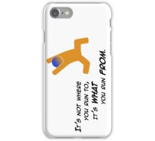 Miscellaneous - running from - light iPhone Case/Skin