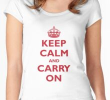 KEEP CALM AND CARRY ON Women's Fitted Scoop T-Shirt