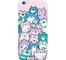 Pastel Pile Of Cats iPhone Case/Skin