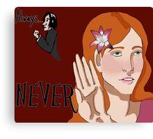 Always/Never Lily Evans Potter Canvas Print