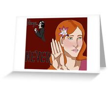 Always/Never Lily Evans Potter Greeting Card