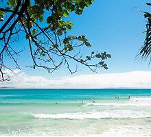 Longboard waves at First Point, Noosa : Light blue & green by MyOceanBliss
