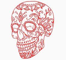Red Sugar Skull Unisex T-Shirt