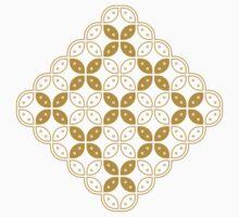 Javanese Batik Kawung Marquise Diamond Chain (Gold) Baby Tee