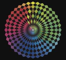 Geometric Design - Color Spectrum Difference by Jenny Zhang