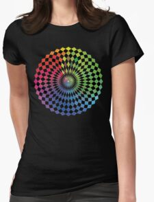 Geometric Design - Color Spectrum Difference Womens Fitted T-Shirt