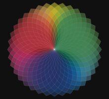 Geometric Design - Color Spectrum Multiply One Piece - Short Sleeve