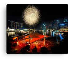 Fireworks By The Bay Canvas Print